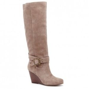 Sole Society Valentina Suede Boots Size 8B